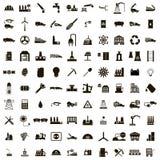 100 Industry icons set. Isolated on white background stock illustration