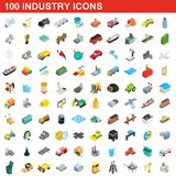 100 industry icons set, isometric 3d style. 100 industry icons set in isometric 3d style for any design illustration vector illustration