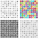 100 industry icons set vector variant. 100 industry icons set vector in 4 variant for any web design isolated on white Stock Images