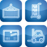 Industry Icons: Transportations Royalty Free Stock Photo