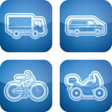 Industry Icons: Transportations Stock Image