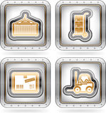 Industry Icons: Transportations Stock Images
