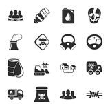 Industry 16 icons universal set for web and mobile. Flat Royalty Free Stock Images