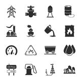 Industry 16 icons universal set for web and mobile. Flat Royalty Free Stock Photography