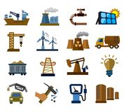 Industry icons Stock Photos