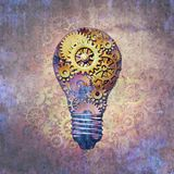 Industry Idea And Invention. Industry idea concept and business imagination as a corporate innovation metaphor as an abstract 3D illustration Royalty Free Stock Images