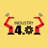 Industry 4.0 illustration Stock Photo