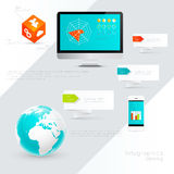 IT Industry Infographic Elements. Stock Photo