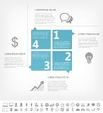 IT Industry Infographic Elements Royalty Free Stock Photography