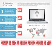 IT Industry Infographic Elements Stock Photos