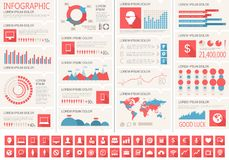 IT Industry Infographic Elements Stock Photo