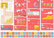 IT Industry Infographic Elements Stock Image