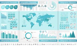 IT Industry Infographic Elements. Opportunity to Highlight any Country. Vector Illustration EPS 10 royalty free stock photos
