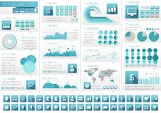 IT Industry Infographic Elements Stock Images
