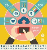 IT Industry Infographic Elements royalty free illustration