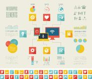 IT Industry Infographic Elements Stock Photography