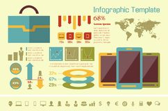 IT Industry Infographic Elements Royalty Free Stock Image