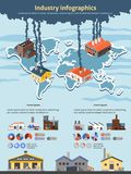 Industry Infographics Set Stock Images