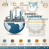 Industry infographics template Stock Photo