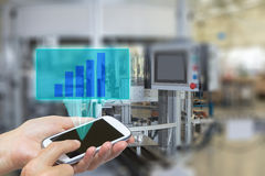 Industry interior concept with growth graph Stock Photo