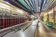 Industry Interior of a Dam. Royalty Free Stock Images