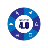 Industry 4.0 and internet of things. Illustration Royalty Free Stock Photo