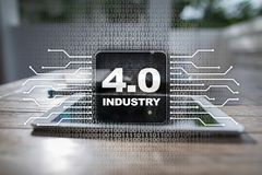 Industry 4.0. IOT. Internet of things. Smart manufacturing concept. Industrial 4.0 process infrastructure. background. Industry 4.0 IOT Internet of things stock illustration