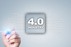 Industry 4.0. IOT. Internet of things. Smart manufacturing concept. Industrial 4.0 process infrastructure. background. Stock Photography