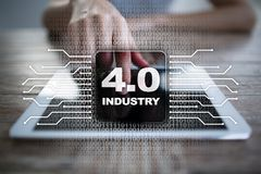 Industry 4.0. IOT. Internet of things. Smart manufacturing concept. Royalty Free Stock Photography