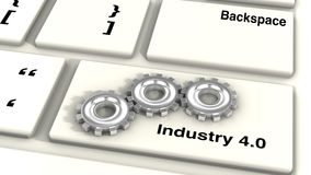 Industry 4.0 keyboard Stock Photography