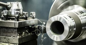 Industry lathe machine work royalty free stock image