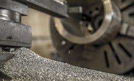 Industry lathe machine work tool steel. Industry lathe machine work tool royalty free stock image