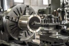 Industry lathe machine work tool steel. Industry lathe machine work tool royalty free stock photography