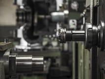 Industry lathe machine work tool steel. Industry lathe machine work tool royalty free stock photos