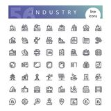 Industry Line Icons Set. Set of 56 industry line icons suitable for web, infographics and apps. on white background. Clipping paths included royalty free illustration