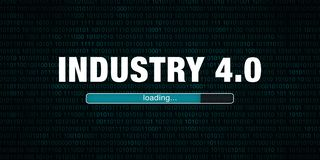 Industry 4.0 loading. Banner graphic - Industry 4.0 loading stock illustration