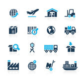 Industry and Logistics // Azure Series Royalty Free Stock Photos