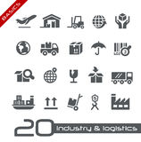 Industry & Logistics Icons // Basics Series Royalty Free Stock Images