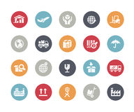 Industry & Logistics Icons // Classics Series Royalty Free Stock Photo