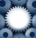 Industry and manufacturing with a blank center vector illustration