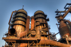 Industry for manufacturing of pig-iron, Ostrava, Czech Republic Stock Photos