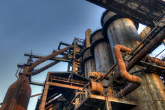 Industry for manufacturing of pig-iron, Ostrava, Czech Republic Royalty Free Stock Photography