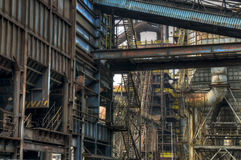 Industry for manufacturing of pig-iron, Ostrava, Czech Republic Stock Image