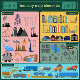 Industry map elements Stock Photo
