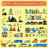 Industry map elements Stock Images
