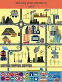 Industry map elements for generating your own infographics, maps Stock Photos