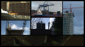 Industry Montage stock video footage