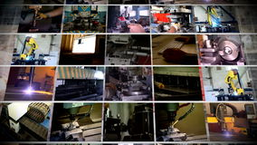 Industry multi-screen manufacture stock video