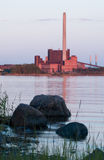 Industry near nature. Coal plant near nature Stock Image