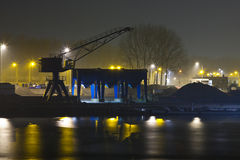 Industry at night. In the netherlands stock images